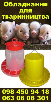 Обладнання та корм для тваринництва